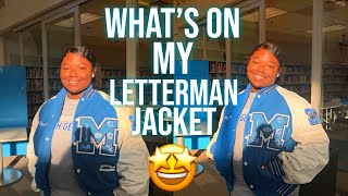 WHAT'S ON MY LETTERMAN JACKET | What it Means to ME