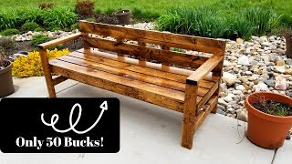 Cheap And Easy DIY Bench For Under $50