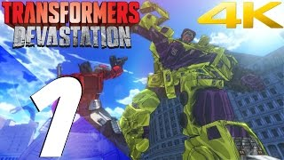 Transformers Devastation - Walkthrough Part 1 - Devastator Boss & Megatron Boss [4K 60fps]