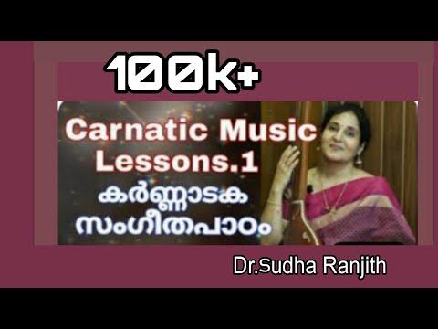 Voice training 29  Carnatic Music Lessons    Dr.SudhaRanjith /Sapthaswarangal (1)    സപ്തസ്വരങ്ങൾ .