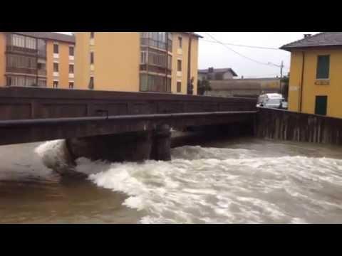 Maltempo a Luino: la situazione del fiume Tresa, Margorabbia e del Lago Maggiore. 10 novembre 2014