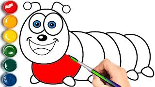 Caterpillar Coloring Pages | Learn Colors for Children