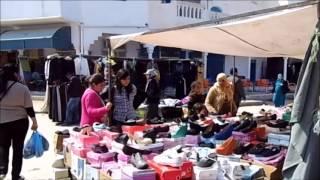 preview picture of video 'Tunesien 2014 Wochenmarkt in HOUMT SOUK'