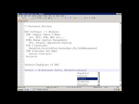 Oracle E-Business Suite (Oracle Apps) - Technical - Demo - YouTube