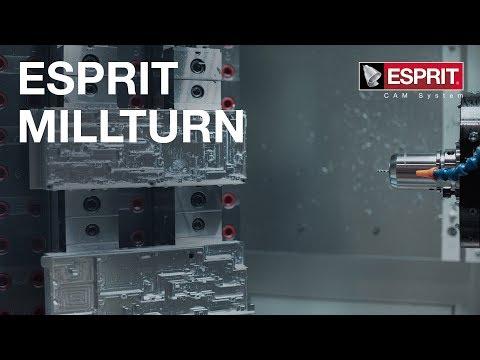 MillTurn-Bearbeitung mit ESPRIT CAM - Effizienz des Multitasking