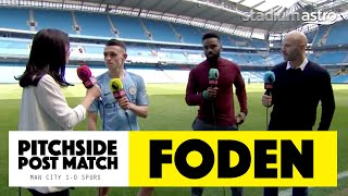 PITCHSIDE: Phil Foden Post Match Reaction | Man City 1-0 Tottenham | Astro SuperSport