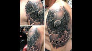 Realistic Eagle Tattoo Time Lapse. Seed Tattoo