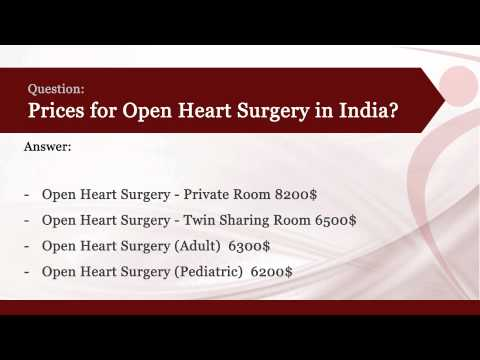 How much does Open Heart Surgery Cost in India