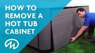 How to Remove Your Hot Tub Cabinet