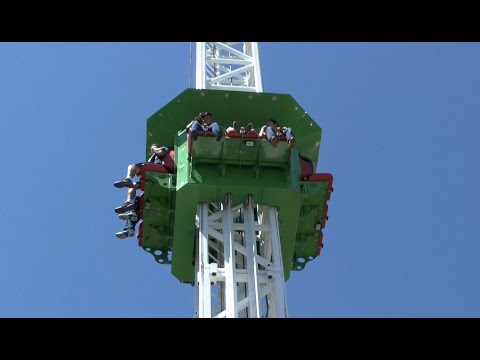 Cliff Hanger Drop Tower (HD POV) – Cliff's Amusement Park