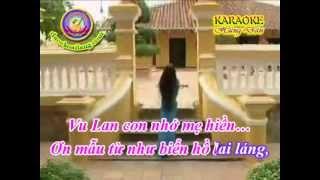 Karaoke Vong Co   Vu Lan Nho Me   HD