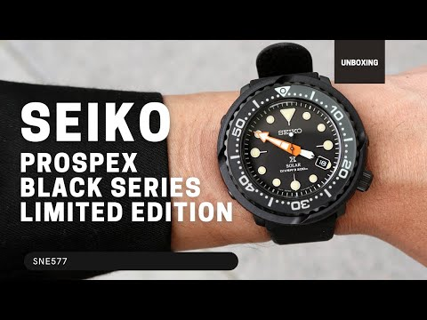 SEIKO PROSPEX BLACK SERIES SNE577P LIMITED EDITION