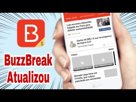 Atualização do BuzzBreak - Ganhe Dinheiro no Paypal Lendo Notícias (Money no paypal)