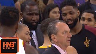 Stephen Curry & Kendrick Perkins exchange words / Warriors vs Cavaliers Game 2