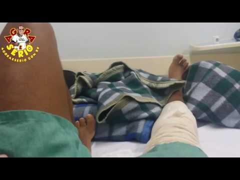 Repórter Favela de molho , operação no joelho .......