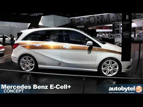 Mercedes Benz B Class E-Cell+ concept at the 2012 Detroit Auto Show video