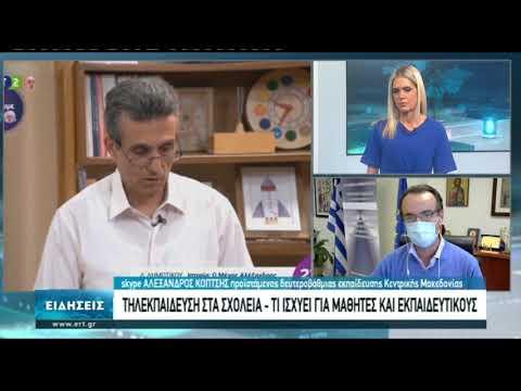 Συνέντευξη Αλ. Κοπτση Προιστάμενου Δευτεροβαθμιας Εκπαίδευσης Κ. Μακεδονίας | 05/11/2020 | ΕΡΤ