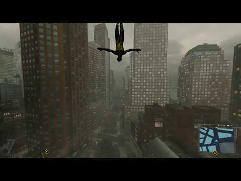 Spider-Man PS4 - Jumping Off The Tallest Buildings - MK. II ARMOR Suit - Rainy Weather