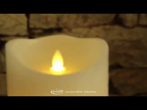 LED-Echtwachskerze mit beweglicher Flamme - 27,99 €