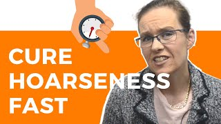 How To Cure A Hoarse Voice In an Hour (Is It Possible?)