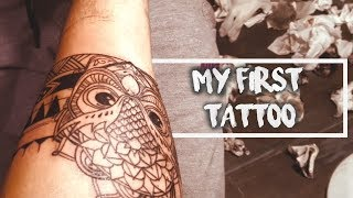 Getting My First Arm Band Tattoo - Cinematic Video | Timelapse | Owl, Mandala, Mouri | Chirag Khanna
