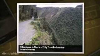 preview picture of video 'La Route de la Mort / Death Road Terredeshommes's photos around Coroico, Bolivia'