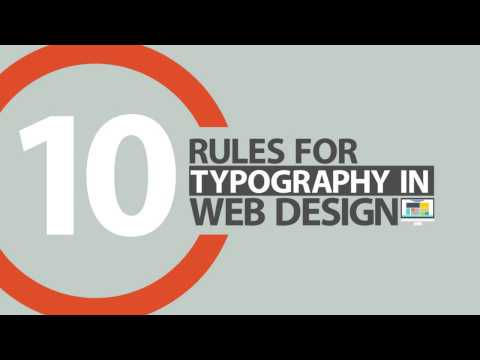 10 Rules of Typography in Web Design