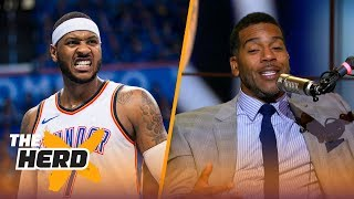 Jim Jackson on 'Melo being a liability or asset to Rockets, New-look Lakers   NBA   THE HERD