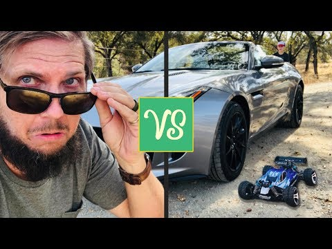 JAGUAR F TYPE Vs WORLDS FASTEST RC CAR!