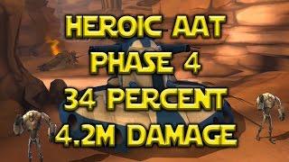 Star Wars: Galaxy Of Heroes - Heroic AAT Phase 4 34% 4.2M Damage