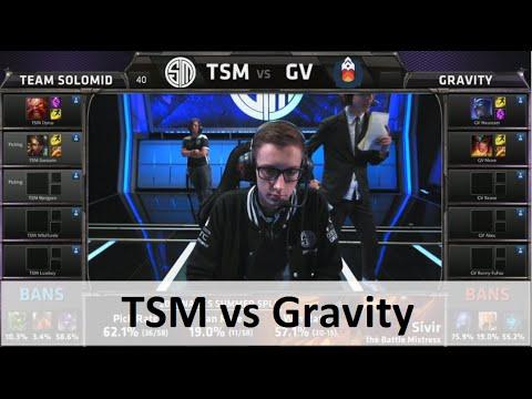 Team SoloMid vs Gravity   S5 NA LCS summer 2015 week 6 day 2   TSM vs GV W6D2 G1