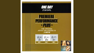 One Day (Performance Track In Key Of Db)