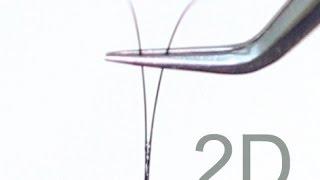 Формирование пучка 2Д. Наращивание ресниц. Объемное наращивание ресниц.