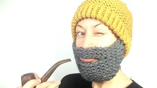 How to Loom Knit a Beard Hat (DIY Tutorial)
