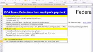 Excel 2010 Business Math 54: Calculate Social Security and Medicare Deductions
