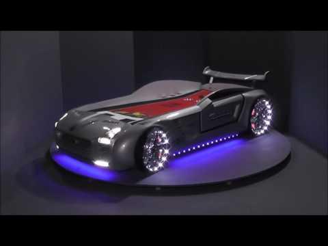 Autobett Roadster mit LED und Sound, Kinderbett Autobetten Präsentation