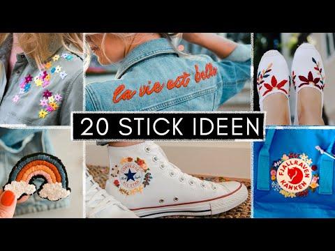 20 Stickideen - Stickmotive für Jeansjacke, Converse, Fjällraven Rucksack, T-Shirt oder Bluse