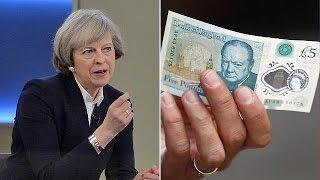 Reino Unido: Libra em queda após declarações de May sobre Brexit mais