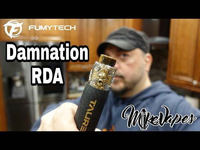 Damnation RDA Review, Build, and Wick By FumyTech