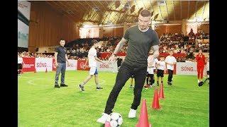 Trực tiếp Duy Mạnh giao lưu thi đấu bóng với danh thủ David Beckham tại sự kiện TPHCM 9/3/2019
