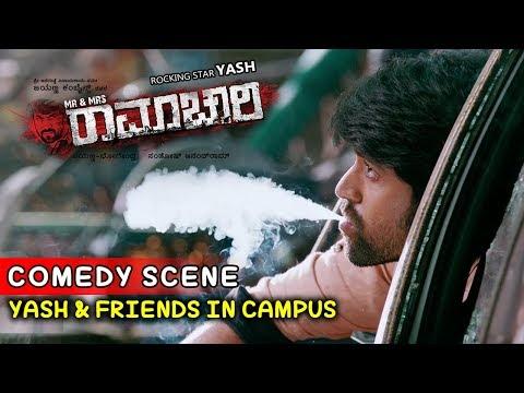 Yash Movies | Radhika Searches For Yash In College Scenes | Mr And Mrs Ramachari