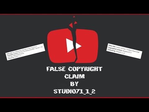 Фейковые жалобы на нарушение авторских прав от мошенников Studio71_1_2 ► Как реагировать