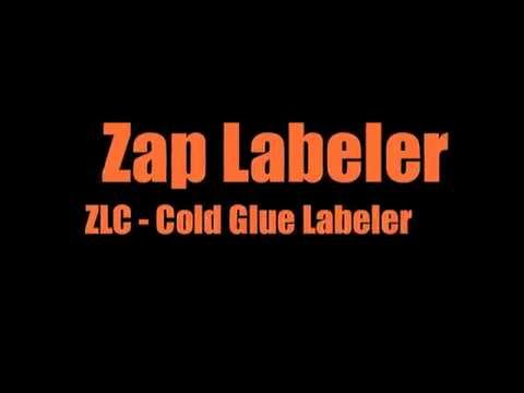 Zap Labeler Semi Automatic Cold Glue Bottle Labeling Machine Zap Labeler ZLC - Cold Glue Labeling Machine