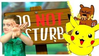 Смеемся и ДРАЗНИМ ЗВЕРЬКА Играем в мультяшную Игру Do not disturb Видео для детей
