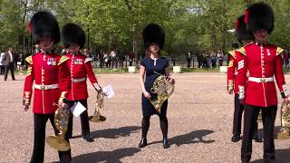 Sarah Willis takes the Coldstream Guards Band Horn Challenge!