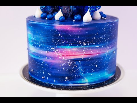 Как задекорировать торт в космическом стиле