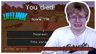 CallMeCarson Has A Very Bad Time In The Minecraft Lifelink Event