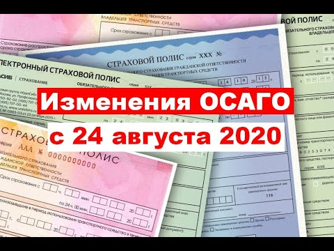 Что изменилось в ОСАГО с 24 августа 2020 года?