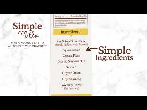Simple Mills, Natürlich glutenfrei, Mandelmehl Aromen, feines Meersalz, 120 g