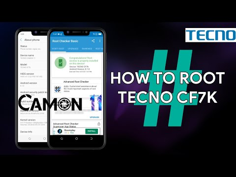 How To Root Tecno Camon 11 CF7k - [romshillzz]